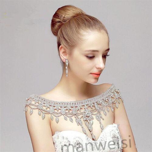 Luxury Rhinestone Crystal Wedding Dresses Jackets Beads Cape Bridal Bolero Shawl