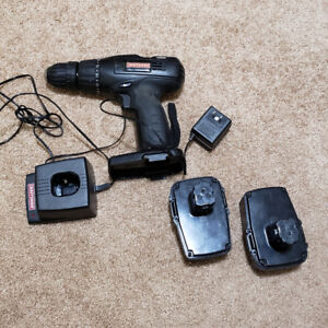 Cordless screw driver with 2 batteries and charger