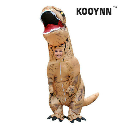 kooynn Inflatable Dinosaur Costumes Kids T-REX Dinosaur Inflatable Costume Brown](Dinosaur Costumes Kids)