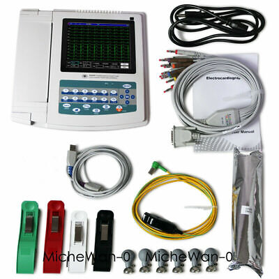Fda Ce 12 Channel Touch Ecg Machine Digital 12 Lead Ekg Interpretor Usb Pc Sw