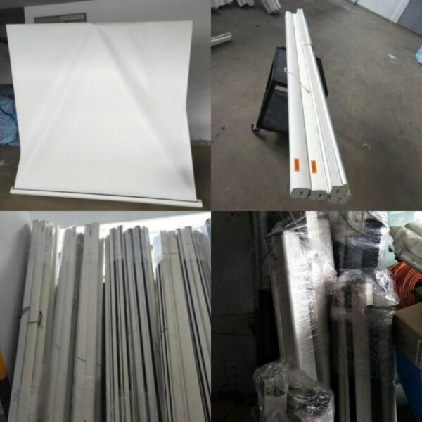 8ft-9ft Wall mount white projector screen for sale @ $70-$80 each