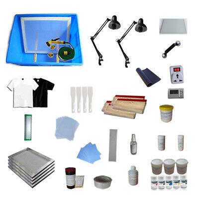 3 Color Silk Screen Printing Bundle Kit Full Material Starter Kit Free Shipping