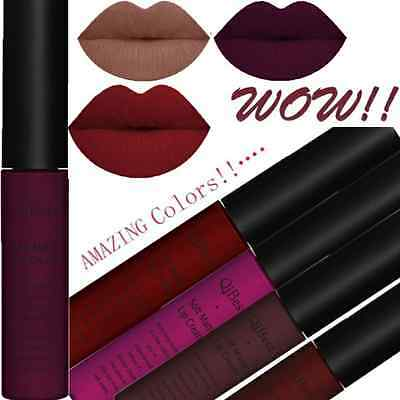 Sexy 34 Colors Waterproof Matte Long Lasting Liquid Lipstick Makeup Lip Glosses