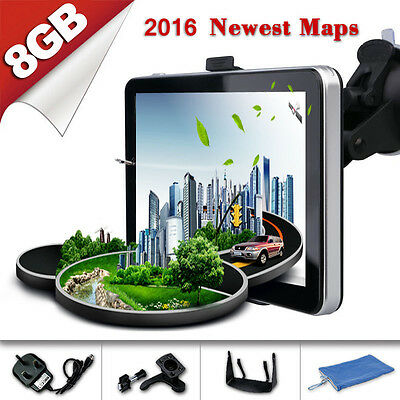 "TOM 7"" 8GB Car GPS Sat Nav Navigation System TOM FM Speedcam POI Free UK EU Maps"