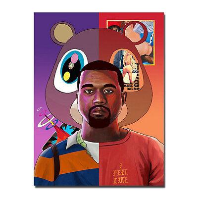 Kanye West   Yezzy Usa Grammy Rap Hiphop Star Silk Canvas Poster 13X18 24X32