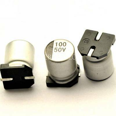 10pcs 100uf 50v 100mfd 50volt Smd Electrolytic Capacitor 8mm10mm