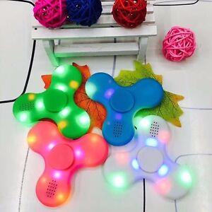 New-Bluetooth-Speaker-LED-Fidget-Spinner-Hand-Finger-EDC-Focus-Gyro-Gift-Toy