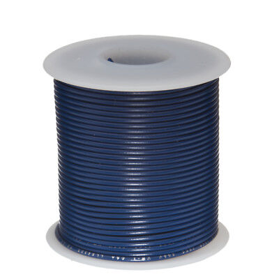 30 Awg Gauge Stranded Hook Up Wire Blue 100 Ft 0.0100 Ptfe 600 Volts