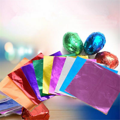 500pcs Chocolate Foil Paper Aluminum Wrappers Candy Sweets Package Wedding Decor Foil Chocolate Wrappers