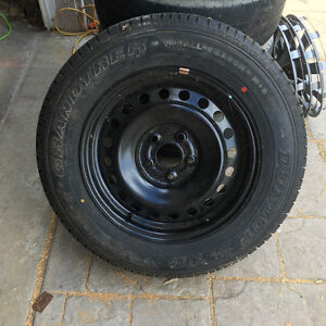 Single steel rim and tire from '06 Nissan Xtrail Kitchener / Waterloo Kitchener Area image 1