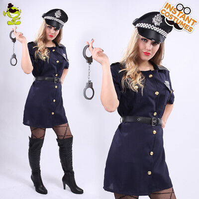 Halloween Police Officer Costume for Women Girl Sexy Cop Outfit Party Costumes  (Cop Outfit For Halloween)