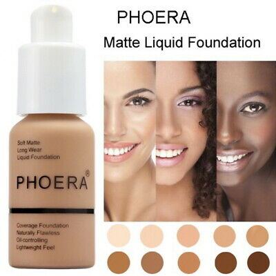 Ladies 30ml PHOERA Matte Oil Control Concealer Liquid Foundation Beauty (Ladies Matte)