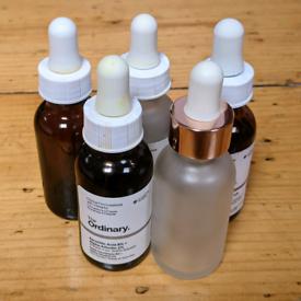 5 glass dropper pipette bottles