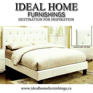 Queen/Double Size White or Black Color Platform Bed - $399.99