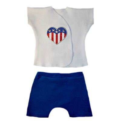 Heart of the USA Unisex Baby Shirt Shorts Clothing - 4 Preemie and Newborn Sizes