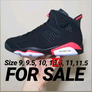 Air Jordan infrared 6's size 9, 9.5, 10, 11, 11.5