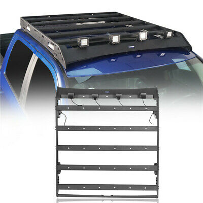 Steel Luggage Carrier Roof Rack w/LED Light for Dodge Ram 1500 09-18 Crew Cab