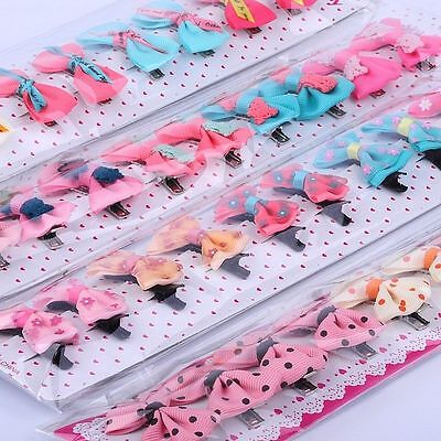 30pcs Infant Girl Grosgrain Ribbon Hair Bows With Clips Toddler Hair Accessory