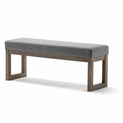 OpenBox Simpli Home Milltown Large Ottoman Bench, Grey