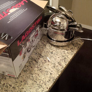 11 Piece Set Lagostina Winsor Highest Quality Stainless Steel