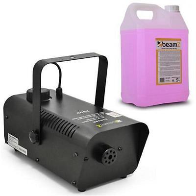 Beamz S900 Nebelmaschine mit 5L Nebelfluid Flüssigkeit Party Disco Nebler NEU