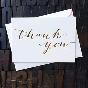 CUSTOM THANK YOU CARDS - GOLD FOILED