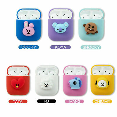 BTS BT21 Earphone Cute Cover Case for Airpods Cartoon Case Protect Cover Gifts