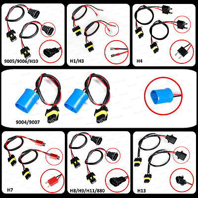 Replacement Wiring Harness for Ballast HID Conversion Choose Size - Pair