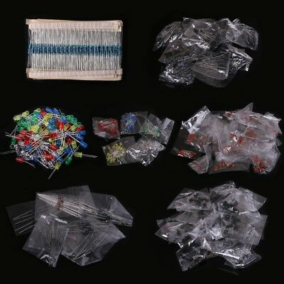 Electronic Components Kit Led Diodes 30 Values Resistors Electrolytic Capacitor