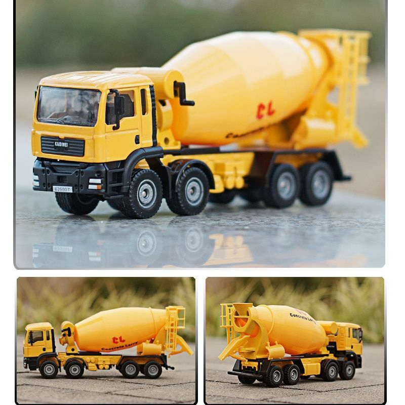 1:50 Diecast Cement Mixer Truck Model Agitating Lorry Construction Vehicles Toys