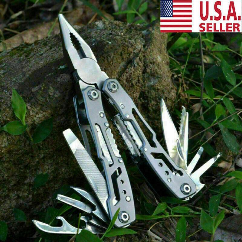 Outdoor Survival Plier Fold Pocket Screwdriver Multi Tool Hi