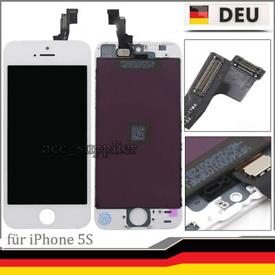 Für iPhone 5S Display mit Ersatz LCD Glas Scheibe Bildschirm Komple Front