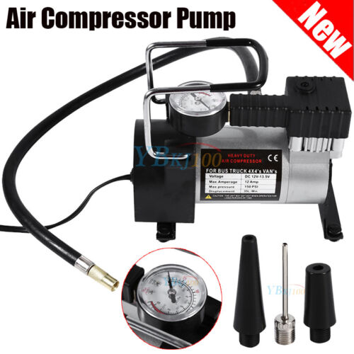 Heavy Duty Portable 12V 150PSI Car Tyre Auto Tire Inflator Pump Air Compressor