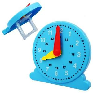 2f451bcc55f7b Plastic Clock Children Learning Toy Teaching Number Kids Time Educational C