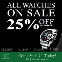 ALL WATCHES NOW 25% OFF!!