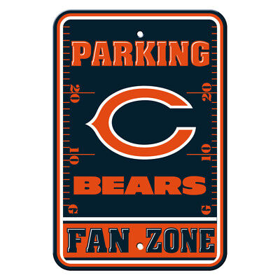 Chicago Bears Decor (NFL Chicago Bears Home Room Office Bar Decor Parking Sign Fan Zone 12