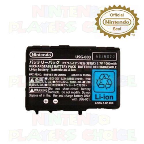 AUTHENTIC OEM Nintendo DS Lite USG-001 USG-003 Rechargeable Battery - NEW
