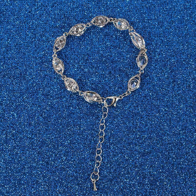 Bracelet Shine Sliding Bracelet Snake Chain Push Pull Rose Gold Silver Braided