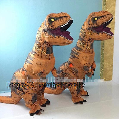 New Inflatable Dinosaur Mascot Costume adult T Rex Blowup Dinosaur Cosplay dress, used for sale  Shipping to Canada