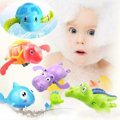 Baby Bath Toys Swim Bath Turtle Crocodile Floating Water Wind Up Chain For Kids](Toys For Turtles)