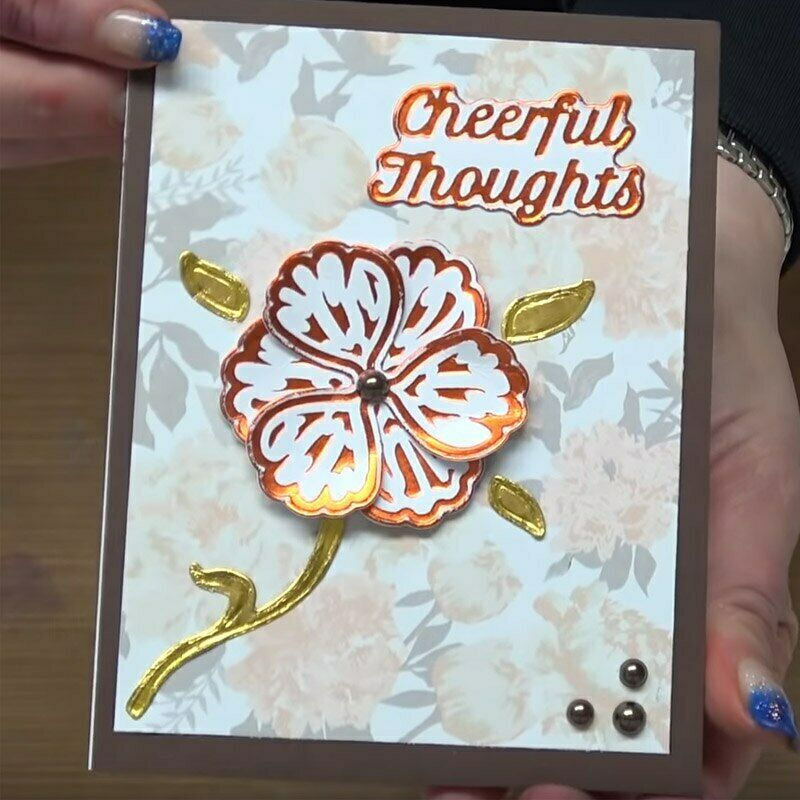 Flowers Hot Foil Plate Cutting Dies Ombination Words Stencil Template Plants Hot Foil Stamps Dies for DIY Scrapbooking Cards Making Decoration
