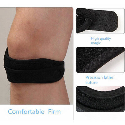Adjustable Sport Gym Patella Tendon Knee Support Strap Brace Pad Band Protec BS
