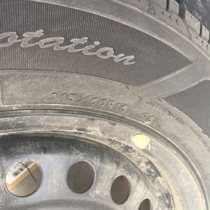 1 yr old winter tires with steel rims Prince George British Columbia image 3
