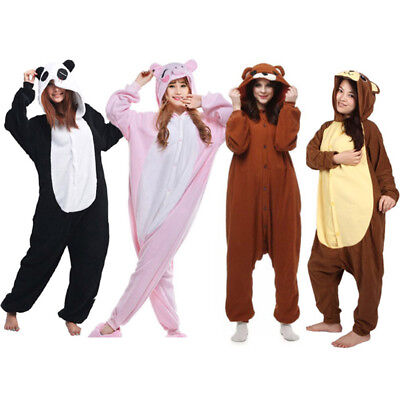Brown bear kigurumi Unisex Adult Animal Cosplay Costume Pajamas Sleepwear  (Animal Adult Costumes)