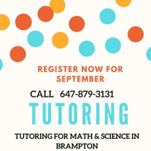 MATH AND SCIENCE TUTORING IN BRAMPTON FOR ALL GRADES
