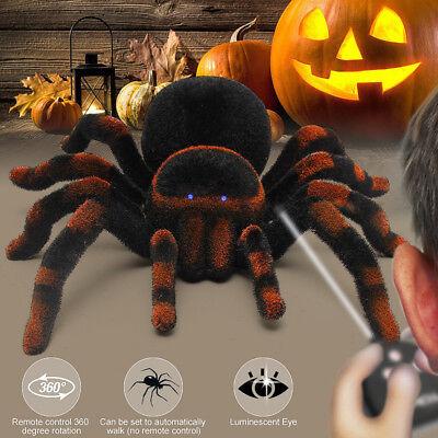 Halloween Remote Control Spider RC 8'' 4CH Tarantula Creepy Prank Toy Kid Gift