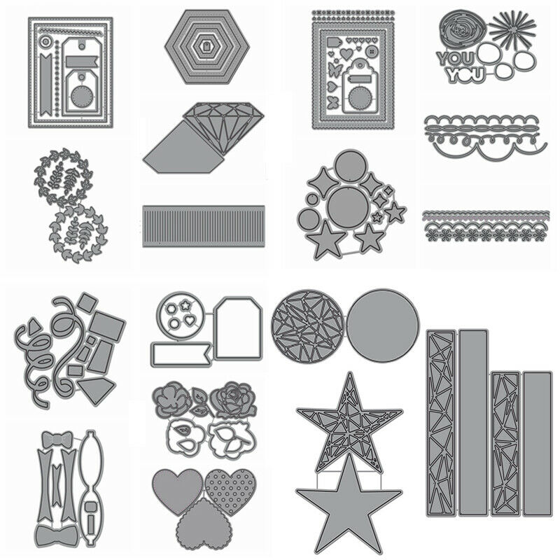 Bow Frame Shake Card Cutting Dies Metal Stencil for DIY Scrapbooking Paper Craft