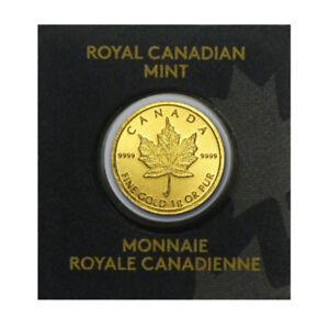 gold maple leaf/Pièce or feuille d'érable 1 gram