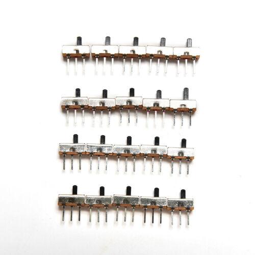 20X SS12D00G3 2 Position SPDT 1P2T 3 Pin PCB Panel Mini Vertical Slide Swifa
