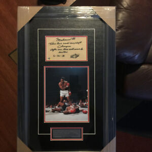 MUHAMMAD ALI Autographed & Inscribed Professional Boxing Frame